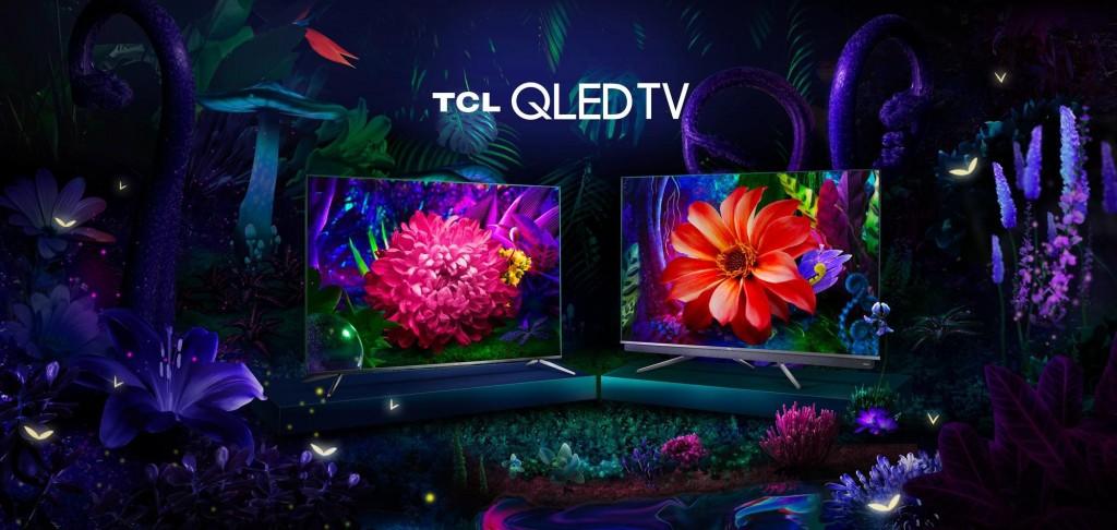 Seria TCL QLED TV C71, seria TCL QLED TV C81 (de la stânga la dreapta)